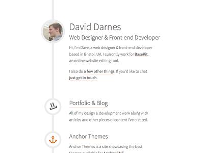 darn.es Initial Design simple clean sketch visual design web
