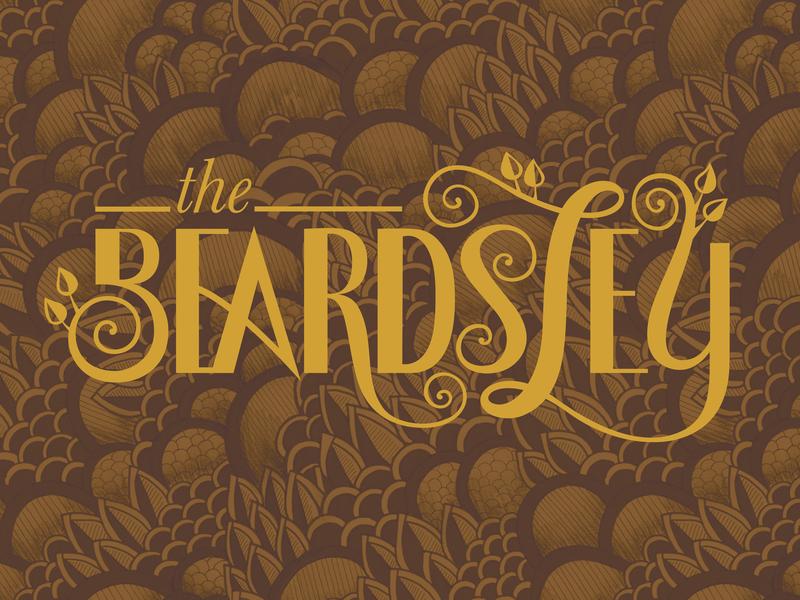 The Beardsley Hotel vintage boutique hotel ornate handdrawntype typography artnouveau