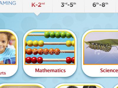 designing interfaces for kids: K-2nd web design interactive design