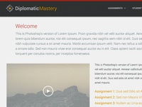 e-Learning Course: Assignments Page + Main Nav
