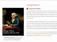 e-Learning Course: Assignments Page Detail