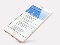 Mobile Language Training App - My List Page