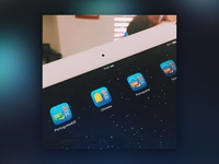 Mobile App Icon on iPad - Language Training