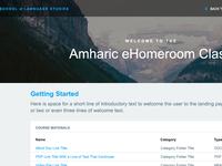 E-Homerooms UI Landing Page Concept