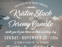 Wedding Invite Design - Typography Detail