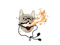 Cursed dog mask