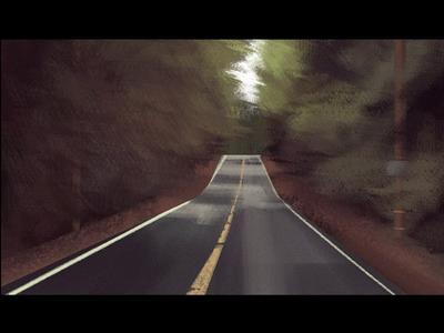 A strange road