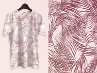Tropical leaves_Printed t-shirt design.
