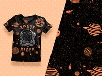T-shirt print design.
