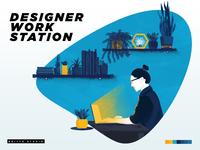 Designer work station