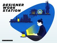 Designer work station_new color option
