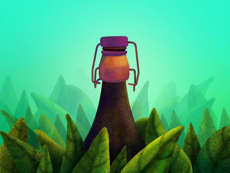 Wine bottle design illustration