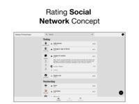 Rating Social Network Concept Desktop