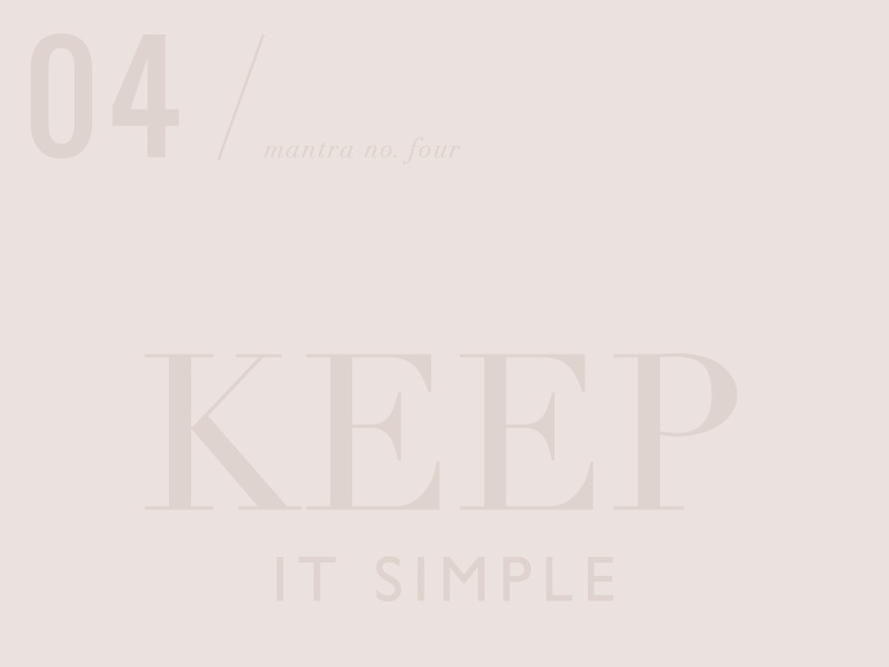 Keepitsimple mantra