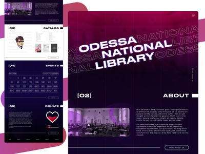 Odessa National Library redesign concept