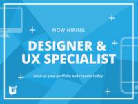 Designer & UX Specialist Role