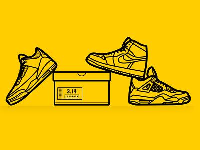 Pi Day x Jordan sneakerhead illustrator sneakers