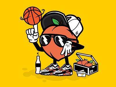 Final 404 Day character design illustraion atlanta peach sports basketball