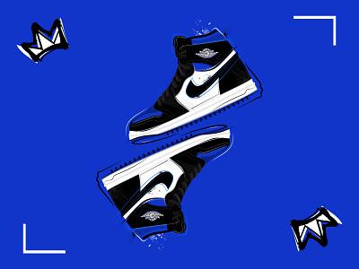 Royal Toe sneakers jordan brand nike illustration atlanta sports