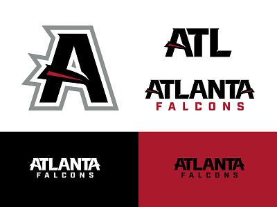 Falcons Type Explorations sports design atlanta nfl sports football