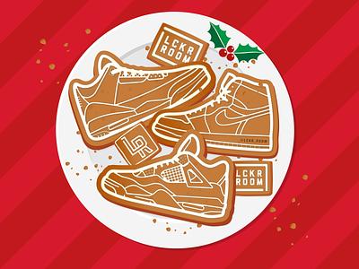 Cookie Kicks christmas holiday sneakerhead sneakers sports design atlanta illustration