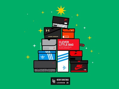 Merry Kicksmas sports design sneakerhead sneakers illustration college sports