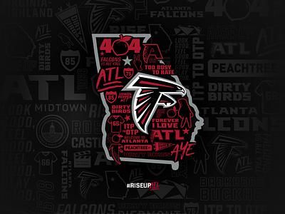 Falcons 404 Day nfl sports design atlanta football
