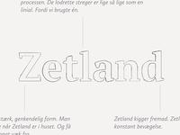 Zetland logo coming together