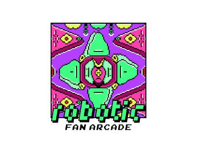 Robotic Pixel pixelart pixel art illustrator animation minimal logo vector design illustration