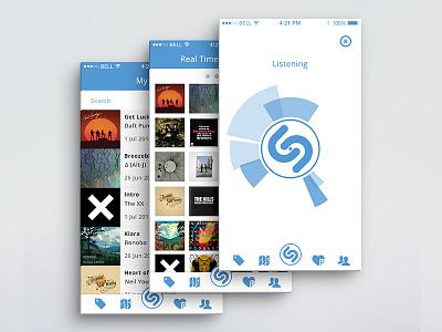Shazam redesign redesign app mobile shazam ui ux