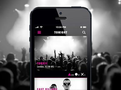 Night Rate ui ux ios app iphone night concept