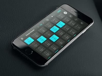 Remixlive App controller interface dj kickpush iphone branding app ios icons music dark ui