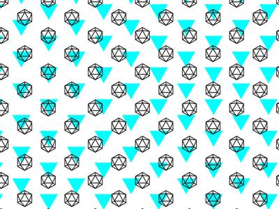 Icosahedron pattern