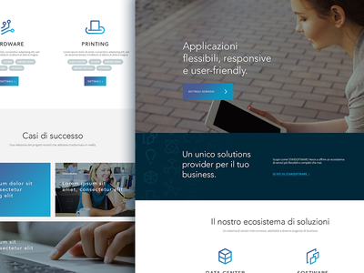 Website Redesign WIP software hardware corporate digital tech landing website redesign wip