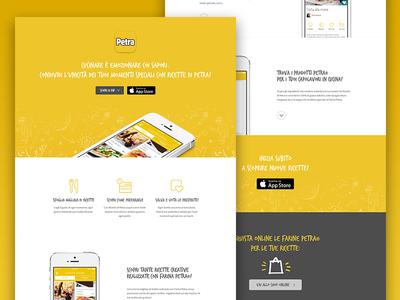 App Landing Page cooking iphone mobile ios app ux ui website page landing