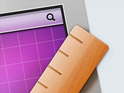 WIP icon wip icon design apple mac monitor screen size ruler wood