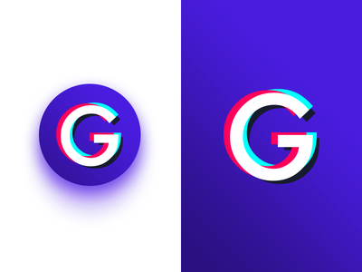 Glitchy App Logo brand fx effects displacement stereoscopic distortion anaglyph android app glitchy icon logo