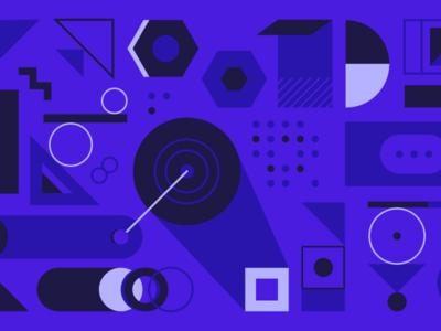 Article illustration - Design Language System setup gears blog machine language design system build tools abstract geometric illustration