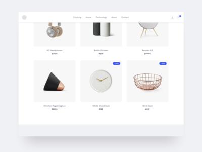 Design Shop ui fashion website minimalism minimalistic electronics design furniture shop ecommerce