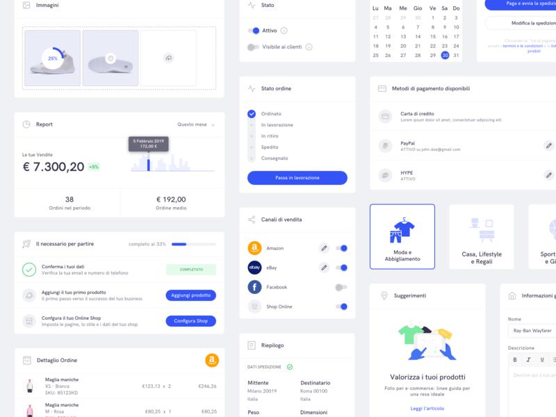 Vidra - Dashboard UI Elements 2 web app user inteface design system dashboad ecommerce app ui
