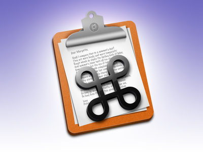 CopyPaste Pro Icon icon app mac copy paste tool cmd clipboard utility osx design software time machine