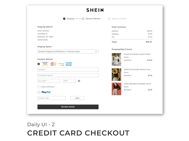 Credit Card Checkout 100 days of ui 100 days challenge branding web typography ux ui design