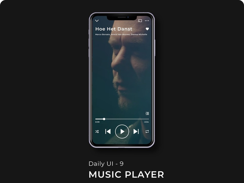 Daily UI: Day 9 - Music Player minimal ux app typography illustration branding ui design 100 days of ui 100 days challenge