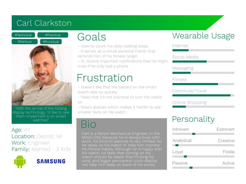 User Persona Carl Clarkston