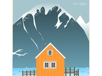 The scenery illustrations illustration