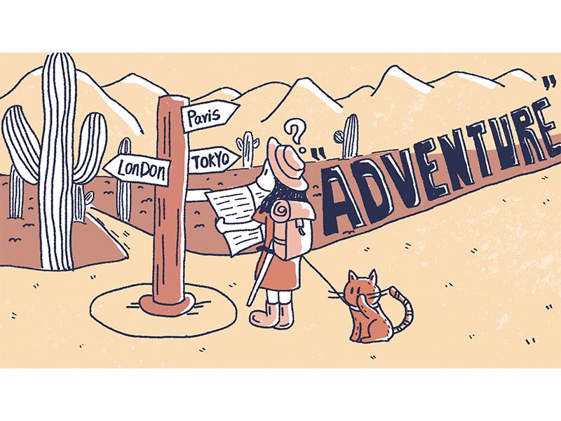adventure life illustration 插图