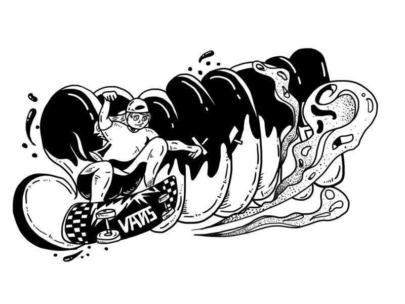 vans2 hip hop skateboard vans illustration 插图