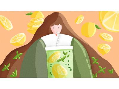 Citrus Mint Mojito illustration 插图