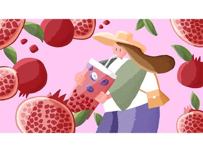 Pomegranate Pearl Fizz 插图 illustration