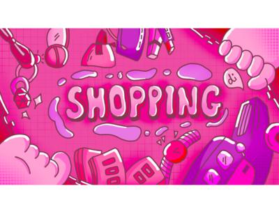 Shopping design illustration 插图